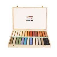 Silicate Crayons / Chalk Single Stick, decorative & painting, Set in wooden box