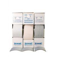 Ekamant Abrasive Pads, 140 x 113 x 4 mm, 400 Grit
