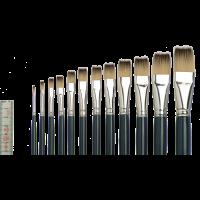 Tiziano 2 Öl-/Acrylmalpinsel flach, Sortiment, 12 Pinsel