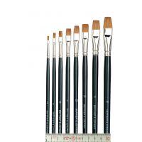 Ölmalpinsel, flach, Rotmarderhaar, Set, Gr. 2 - 16 (8 St)
