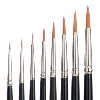 Meisterklasse Retouching And Water Colour Brush, Toray Hair, Set à 8 pcs
