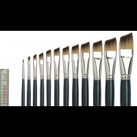 Tiziano 2 Öl-/Acrylmalpinsel schräg, flach