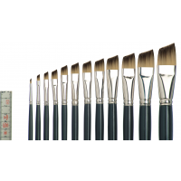 Tiziano 2 Öl-/Acrylmalpinsel schräg, flach, Sortiment, 10 Pinsel