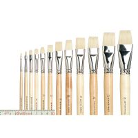 Bristle Artists' Brush, flat straight, size 2 - 24 (set 12)