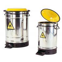 asecos Entsorgungsbehälter/ Sicherheitsbehälter Edelstahl, 20 l
