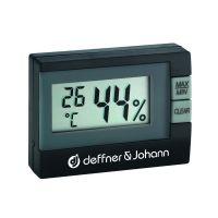 Elektronisches Mini-Thermo-Hygrometer, schwarz