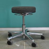 RESKO Work Stool with upholstered seat, base with castors