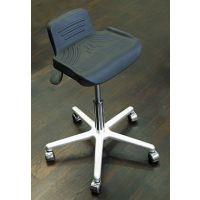 RESKO Arbeitshocker Standard mit PU-Sitz, auf Rollen