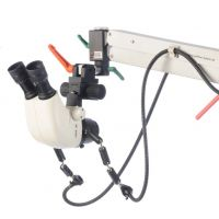 Leica Stereo-Mikroskop S6 mit fahrbarem Bodenstativ / Leica Stereo Microscope S6 with Mobile Floor Stand