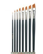 Tiziano Oil Paintbrush, Slanted, Set Large à 10 pcs