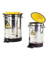asecos Entsorgungsbehälter / Sicherheitsbehälter Edelstahl, 50 l