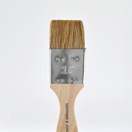 """Ox Hair Brush (varnishing brush) flat, size 1,5"""""""