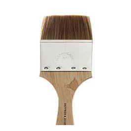 Ox hair brush (varnishing brush) flat, size 75