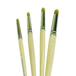 Erasing / Surface Preparation Brush, Round, 4, Hair Length 9 mm